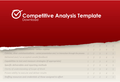 competitive analysis template .