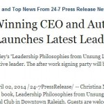 The Daily Herald Announces Christina Motley Leadership Book Release